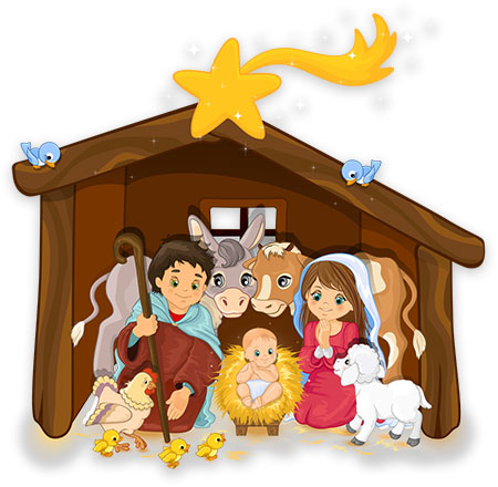 Clipart Christmas - Nativity Scenes - Gift Giving