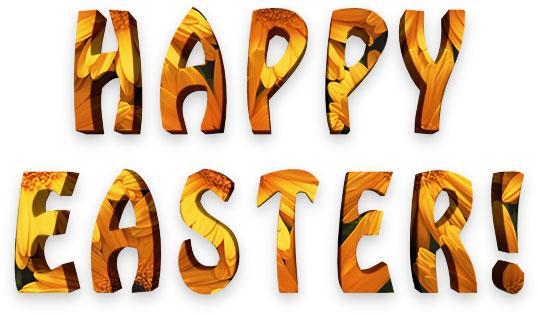 Happy Easter in 3D