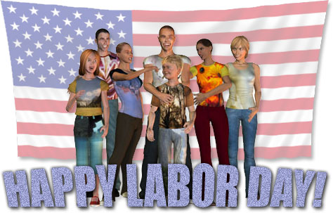 people enjoying labor day