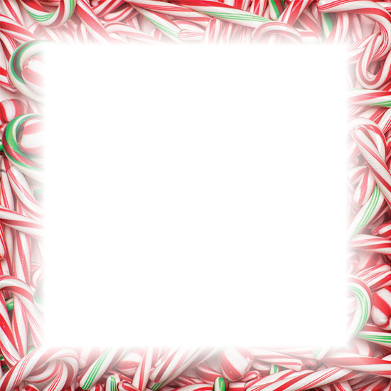 Free Christmas Candy Cane Borders - Clipart