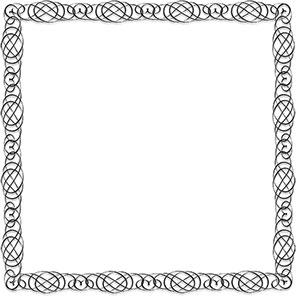Simple Clip Art Designs Black And White